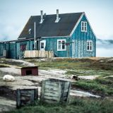 A house in the settlement of Oqaatsut in Disko Bay
