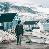 Walking through Tasiilaq in East Greenland