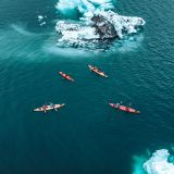 Kayaking in Tasiusaq Bay - the bay of icebergs