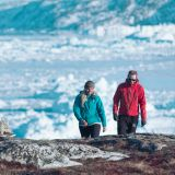 Hiking along the icefjord next to Ilulissat in Greenland