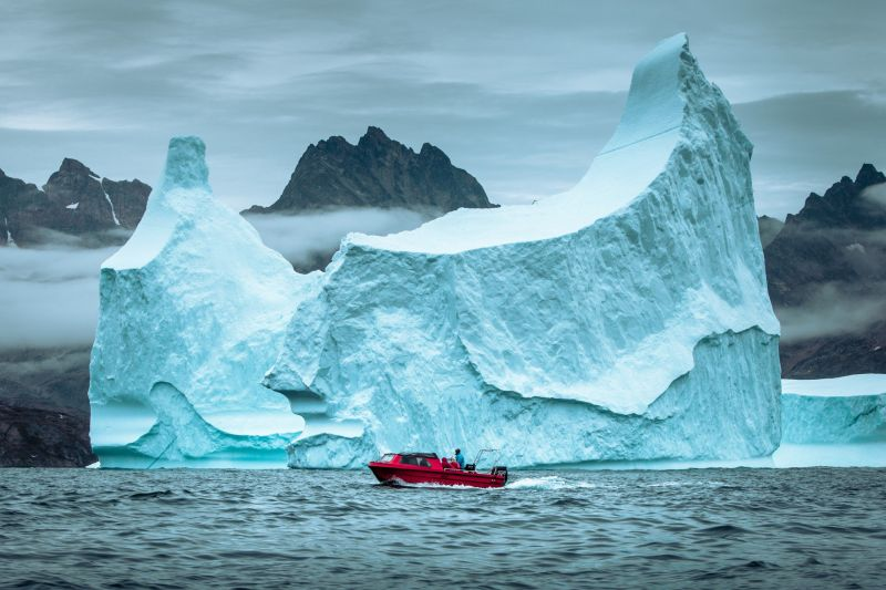 Big iceberg close to Tasiilaq in East Greenland