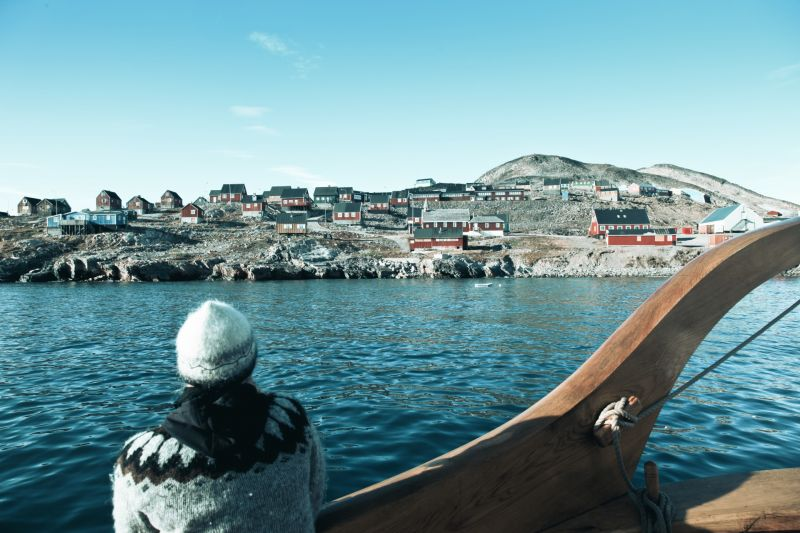 A local settlement in Scoresbysund in Greenland