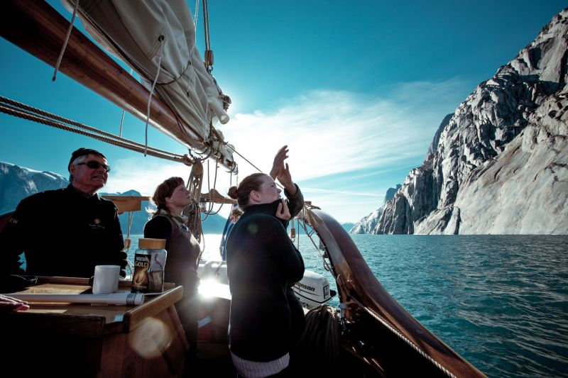Sailing in Scoresbysund in Greenland