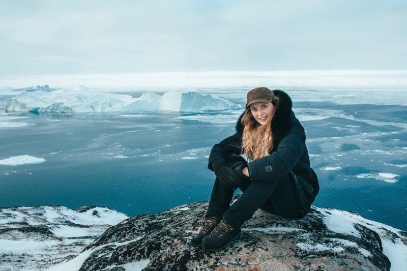 Amazing view over the ice-filled bay in front of Ilulissat