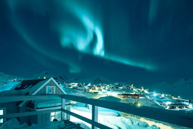 Northern Lights over Tasiilaq in East Greenland