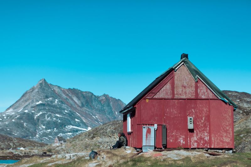 Colorful house in East Greenland