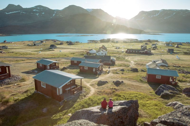 Sunset over Igaliku in South Greenland