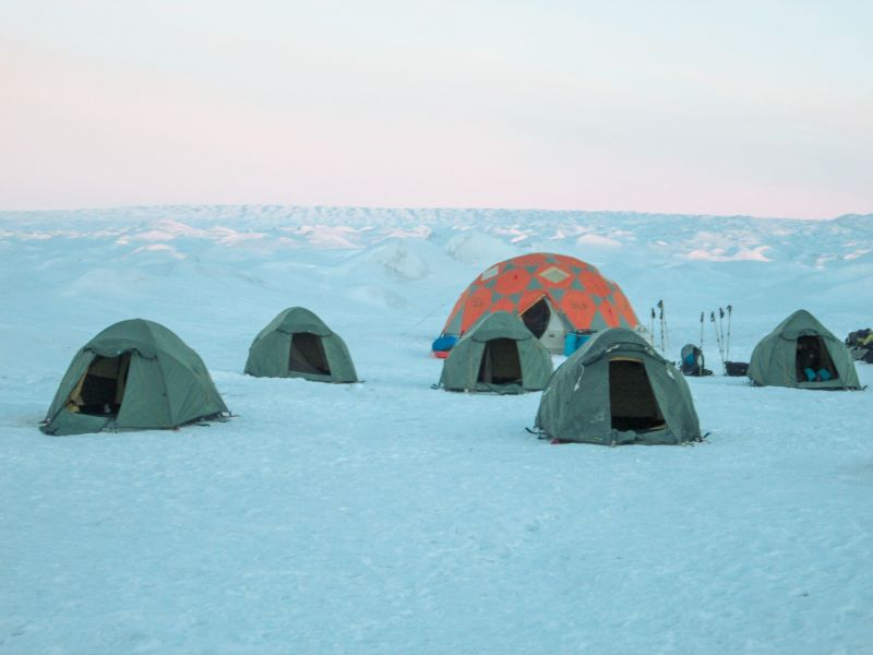 The camp on the Greenland ice sheet