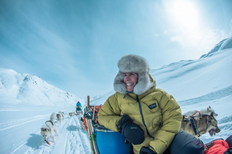 Enjoying the dogsledding trip in East Greenland