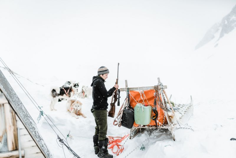 A local musher from Ittoqqortoormiit checking his gear