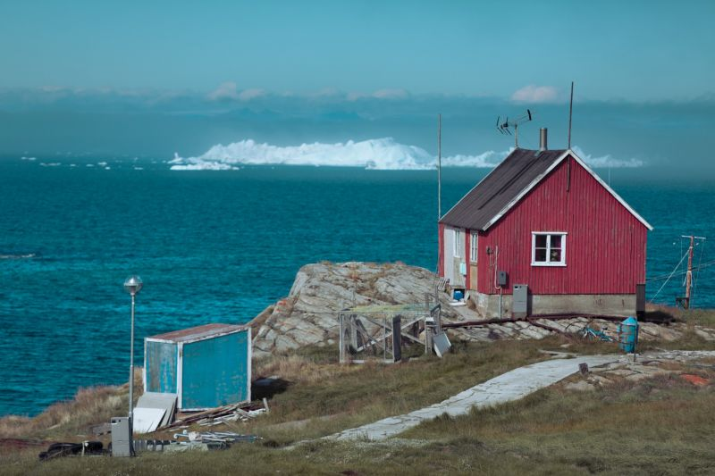 House in Ilimanaq with view on Disko Bay