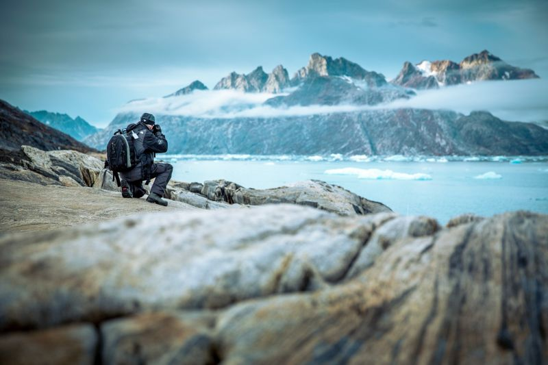Photographing in East Greenland