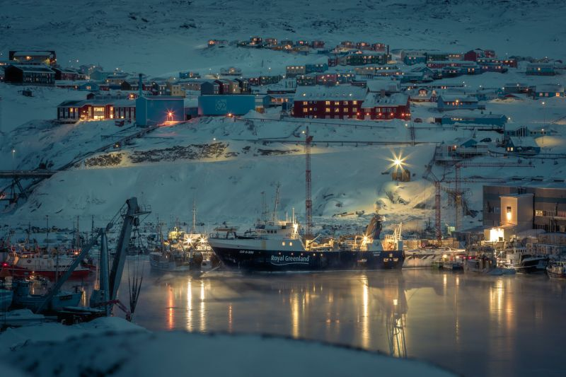 The harbour of Ilulissat in winter