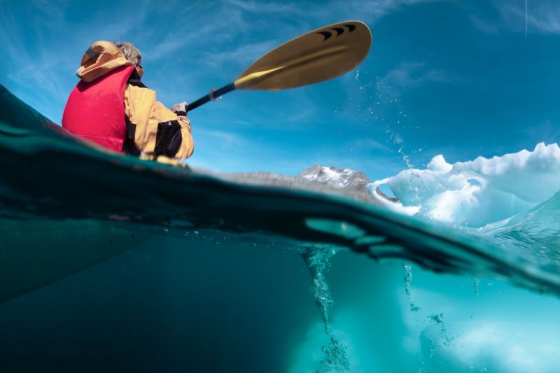 Paddle among icebergs - Kayaking in Greenland