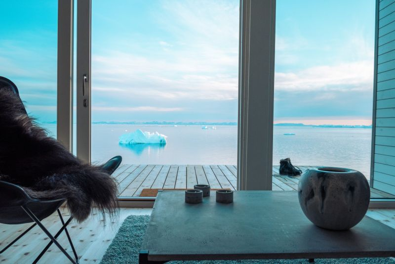 Ilimanaq Lodge - view from the luxury hut