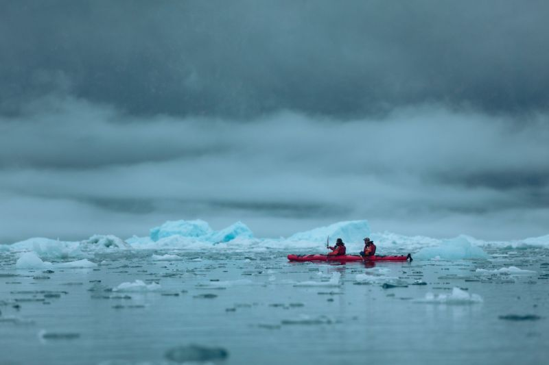 Whatever the weather - Kayaking in South Greenland